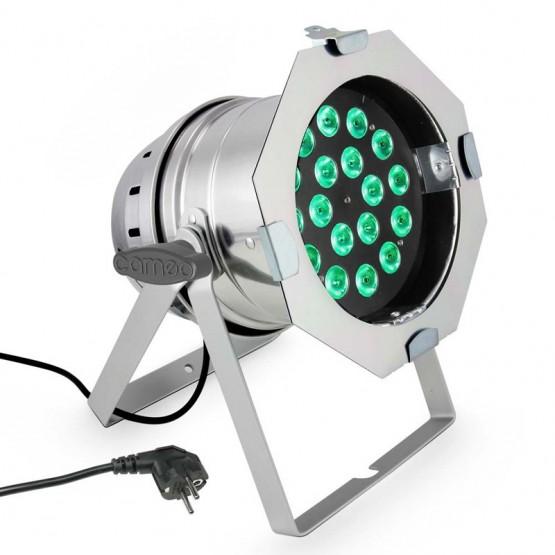 CAMEO CLP64Q8WPS FOCO PAR LED RGBW 18X8W CROMADO