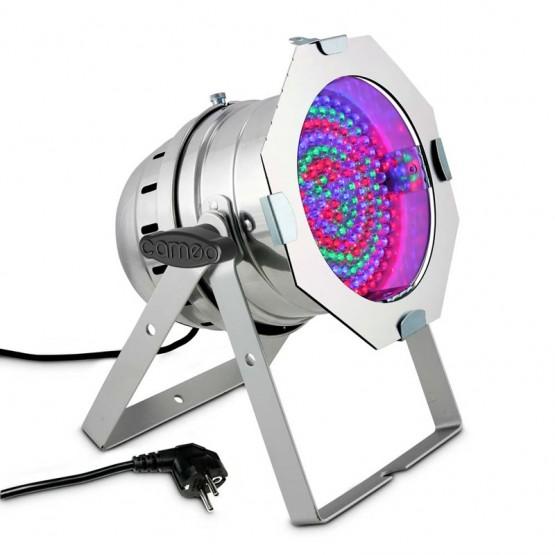 CAMEO CLP64RGB10PS FOCO PAR LED RGB 183X10MM CROMADO