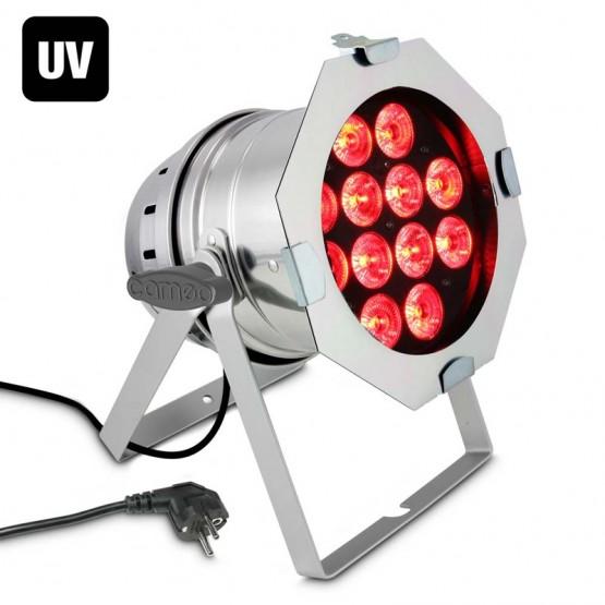CAMEO CLP64RGBWAU10WPS FOCO PAR CON 12 LEDS 6 EN UNO RGBWA+UV
