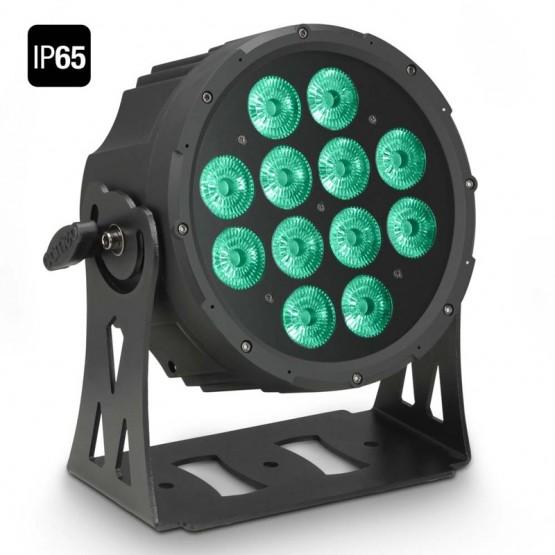 CAMEO CLPFLATPRO12IP65 FOCO OUTDOOR PAR LED RGBWA PLANO 12X10W