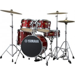 YAMAHA MANU KATCHE SIGNATURE JUNIOR KIT BATERIA ACUSTICA CON HERRAJES CRANBERRY RED