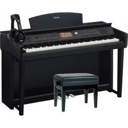 YAMAHA -PACK- CVP705B PIANO DIGITAL NEGRO + BANQUETA Y AURICULARES