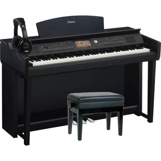 YAMAHA -PACK- CVP705B PIANO DIGITAL NEGRO + BANQUETA Y AURICULARES. DEMO