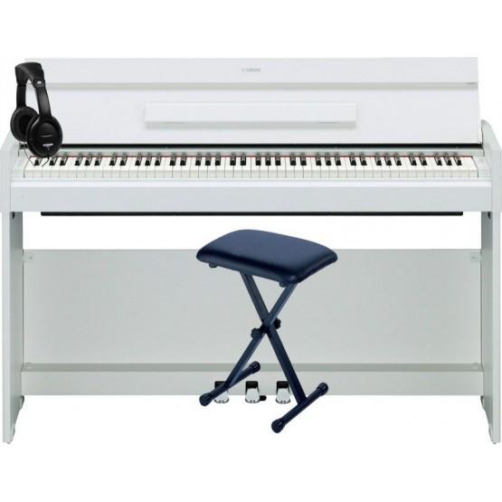 YAMAHA -PACK- YDPS52 WH PIANO DIGITAL ARIUS + BANQUETA TIJERA Y AURICULARES DE REGALO