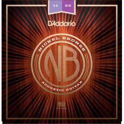 D'ADDARIO NB1152 NICKEL BRONZE JUEGO CUERDAS GUITARRA ACUSTICA CUSTOM LIGHT