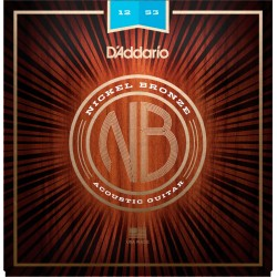 D'ADDARIO NB1253 NICKEL BRONZE JUEGO CUERDAS GUITARRA ACUSTICA LIGHT