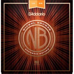 D'ADDARIO NB1256 NICKEL BRONZE JUEGO CUERDAS GUITARRA ACUSTICA LIGHT MEDIUM