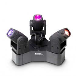 CAMEO CLHB300RGBW HYDRABEAM SET 3 CABEZAS MOVILES RGBW 10W