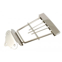 ALL PARTS TP0425001 HOFNER BASS TRAPEZE TAILPIECE, NICKEL, 1-5/8 STRING SPACING, 4-5/8 LONG
