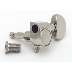SCHALLER TK7840001 TUNING KEYS GROVER STYLE, 3 X 3, NICKEL, WITH HARDWARE, 16:1