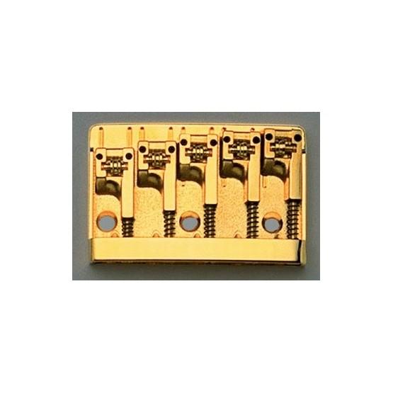 SCHALLER BB0322002 5-STRING BASS BRIDGE ROLLER SADDLES GOLD ADJUSTABLE SPACING 2-17/32 TO 2-3/4