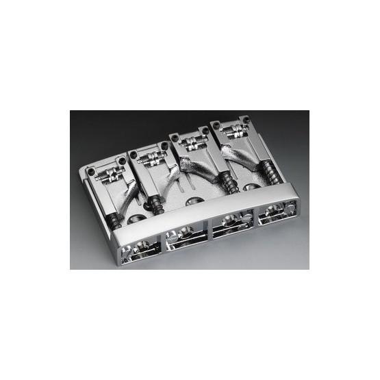 SCHALLER BB0318010 BASS BRIDGE WITH ROLLERS CHROME ADJUSTABLE SPACING 2-3/32 TO 2-1/2