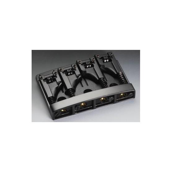 SCHALLER BB0318003 BASS BRIDGE WITH ROLLERS BLACK ADJUSTABLE SPACING 2-3/32 TO 2-1/2