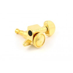 GROVER TK7926002 LOCKING TUNERS 505G6 6-IN-LINE GOLD WITH HARDWARE 18:1 LOCK KNOB ON BACK