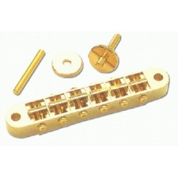 GOTOH GB2540002 NASHVILLE TUNEMATIC, GOLD, WITH HARDWARE, 2-1/16 STRING, 2-29/32 POST SPACING