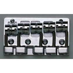 GOTOH BB3465010 J510SJ-5 QUICK RELEASE 5-STRING BASS BRIDGE, CHROME, W/SCREWS, 2-3/4 STRING SPACING