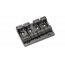 GOTOH BB3460003 J510SJ -4 QUICK RELEASE BASS BRIDGE, BLACK, WITH SCREWS, 2-1/4 STRING SPACING
