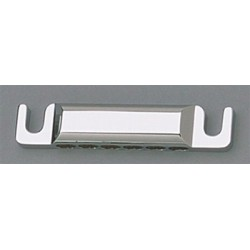ALL PARTS TP5440010 12-STRING STOP TAILPIECE, WITH USA THREAD STUDS/ANCHORS, CHROME, 3-1/4 STUD SPA