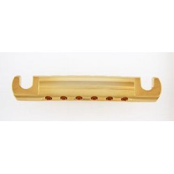ALL PARTS TP3407002 FEATHERWEIGHT STOP TAILPIECE, WITH ADJUSTING SET SCREWS, GOLD, 3-1/4 STUD SPACI