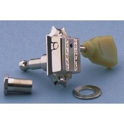 ALL PARTS TK7940001 VINTAGE STYLE GROVERS 3 X 3 SCREW-IN BUSHINGS PLASTIC KEYSTONE NICKEL 14:1