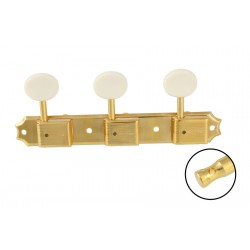 ALL PARTS TK0700002 VINTAGE DELUXE STYLE 3X3 ON A STRIP OFF-WHITE PLASTIC BUTTONS