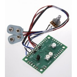 ALL PARTS PU6412000 BUFFER WITH VOLUME CONTROL FOR BASS WITH PIEZO BRIDGE SADDLE PICKUP, 18V