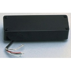 ALL PARTS PU0437023 5-STRING HUMBUCKING BRIDGE PICKUP FOR BASS, BLACK COVER, 1325K OHMS