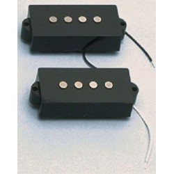 ALL PARTS PU0411023 SPLIT PICKUP FOR P BASS, WITH BLACK COVER, 100K OHMS