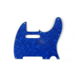 ALL PARTS PG0562057 PICK GUARD FOR TELE, BLUE PEARLOID 3-PLY (BP/W/B) (8 SCREW HOLES).