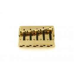 ALL PARTS BB3440002 ECONOMY HEAVY-DUTY 5-STRING BASS BRIDGE GOLD 2-13/16 STRING SPACING