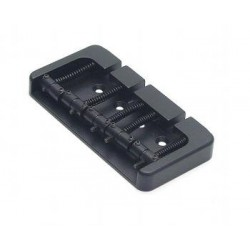 ALL PARTS BB3435003 HIPSHOT 5-STRING BRIDGE, TOP OR THROUGH BODY LOAD, BLACK, 2-3/4 STRING SPACING