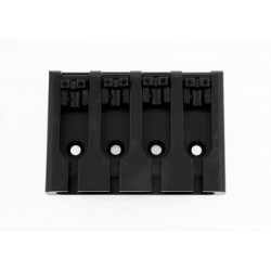 ALL PARTS BB3421003 BASS BRIDGE, LOCK-DOWN SADDLES, BLACK, ADJUSTABLE SPACING 2-1/8 TO 2-5/16