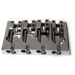 ALL PARTS BB3416010 HIPSHOT A STYLE BASS BRIDGE, CHROME OVER BRASS, 2-1/4 STRING SPACING