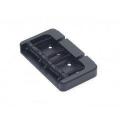 ALL PARTS BB3415003 HIPSHOT TOP LOAD OR THROUGH THE BODY BASS BRIDGE BLACK 2-1/4 STRING SPACING