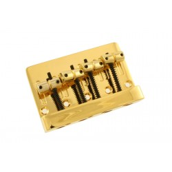 ALL PARTS BB3410002 ECONOMY HEAVY-DUTY BASS BRIDGE GOLD 2-1/4 STRING SPACING