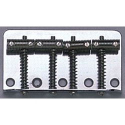 ALL PARTS BB0355001 VINTAGE STYLE BASS BRIDGE, NICKEL, THREADED ROD SADDLES, 2-1/4 STRING SPACING