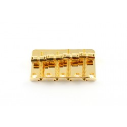 ALL PARTS BB0310002 BASS BRIDGE, GOLD, WITH SCREWS, FOR FENDER, 2-1/4 STRING SPACING