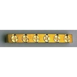 ABM BN0887008 HEIGHT ADJUSTABLE BRASS NUT FOR FENDER GUITARS 1-5/8 X 3/16 X 1/8