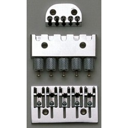 ABM BB0343010 HEADLESS SYSTEM-HEADPIECE BRIDGE AND TUNING TAILPIECE CHROME 2-9/16-2-13/16