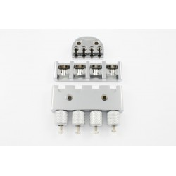 ABM BB0340010 HEADLESS SYSTEM-HEADPIECE, BRIDGE, TUNING TAILPIECE, CHROME, 2-1/4 TO 2-1/2