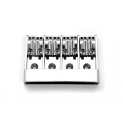 ABM BB0338010 8-STRING BASS BRIDGE, TOP LOADING, CHROME