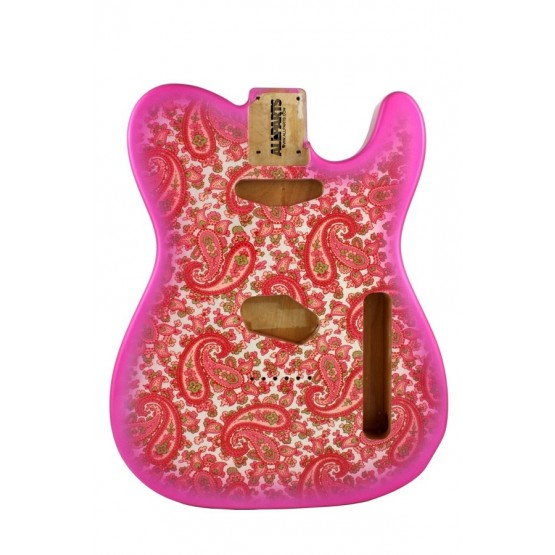 ALL PARTS TBFPKP PINK PAISLEY FINISHED TELECASTER BODY
