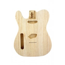 ALL PARTS TBAOL LEFT-HANDED REPLACEMENT BODY FOR TELE, SWAMP ASH, TRADITIONAL ROUTING, NO FINISH