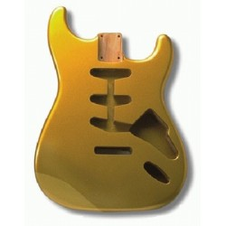 ALL PARTS SBFSGM REPLACEMENT BODY FOR STRAT ALDER TREMOLO ROUTING GOLD FINISH