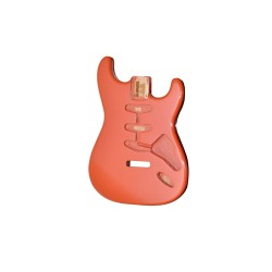 ALL PARTS SBFFR REPLACEMENT BODY FOR STRAT ALDER TREMOLO ROUTING WITH RED FINISH