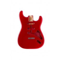 ALL PARTS SBFCAR REPLACEMENT BODY FOR STRAT ALDER TREMOLO ROUTING RED FINISH