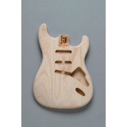 ALL PARTS SBAOHT REPLACEMENT BODY FOR STRAT, SWAMP ASH, NON-TREMOLO, NO FINISH