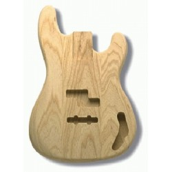 ALL PARTS PJBAO REPLACEMENT BODY FOR P-JBASS SWAMP ASH, TRADITIONAL ROUTING, NO FINISH