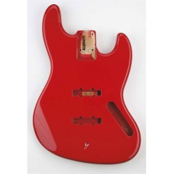 ALL PARTS JBFFR REPLACEMENT BODY FOR JBASS ALDER TRADITIONAL ROUTING RED FINISH