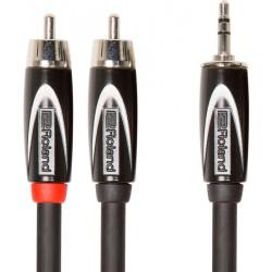 ROLAND RCC-10-352R CABLE BLACK SERIES 2XRCA 1XMINIJACK 3 METROS